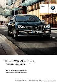 bmw 7 series 2016 g11 owner u0027s manual