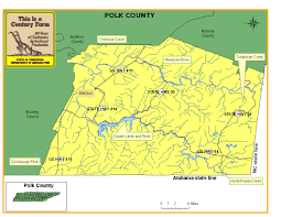 Map Of Tennessee River by Polk County Tennessee Century Farms