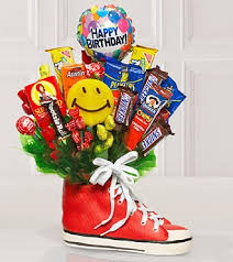 Candy Bouquet Delivery Sweets In Bloomâ Birthday Boost Candy Bouquet Ct38 49 99