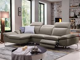 canap d angle cuir de buffle canapé d angle relax electrique cuir avec têtières marsala