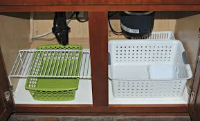 Under Cabinet Dish Rack 10 Steps For Organizing Under Sink Kitchen Cabinets Sweet Shoppe Mom