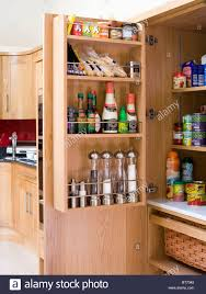 Larder by Close Up Of Larder Cupboard With Groceries And Pepper Mills Stored