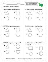 2nd grade geometry common core worksheets by amber kotzin tpt
