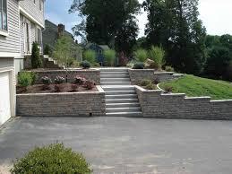 landscaping ideas retaining wall hillside hirea