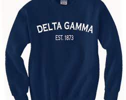 Comfort Color Sweatshirts Wholesale Delta Gamma Etsy
