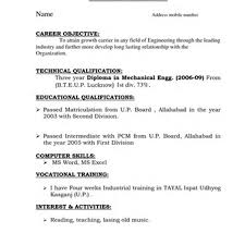 Sample Resume For Diploma In Mechanical Engineering by Diploma Mechanical Resume Free Resume Example And Writing Download