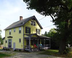 file yellow house in oldwick new jersey with tree jpg wikimedia