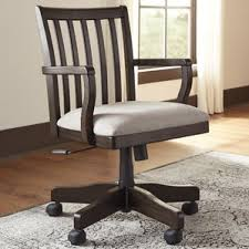 Bankers Chair Cushion Wood Distressed Office Chair Wayfair