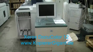 xerox docucolor 12 dc12 youtube
