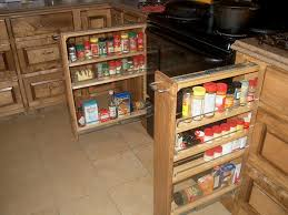 pull out spice rack upper cabinet revlf how to make lowes kitchen