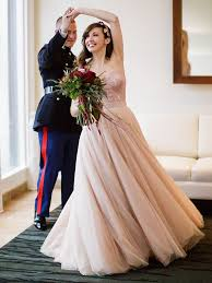 blush wedding dress the prettiest blush and light pink wedding gowns