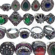 jewelry rings online images Customize buy vintage antique turkish silver mixed rings online jpg