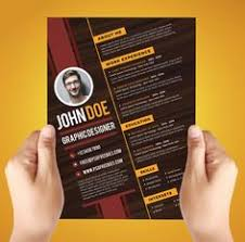 Graphic Resume Templates Free Resume Template For Graphic Designer Misc Pinterest