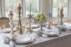 year u0027s day brunch table setting mixing gold and