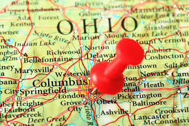 Map Columbus Ohio by Ohio State Maps Usa Maps Of Ohio Oh Ohio Usa Light Blue Map With
