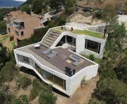 hillside home plans steep hillside house plans house on a steep hill green living roof