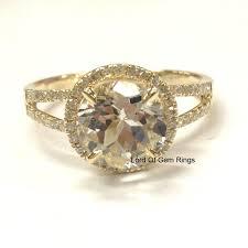 white topaz engagement ring 399 white topaz engagement ring pave diamond wedding 14k