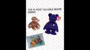 top 10 most valuable beanie babies youtube