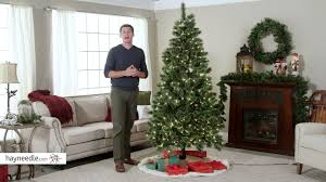 7 ft hard needle deluxe cashmere pine pre lit christmas tree