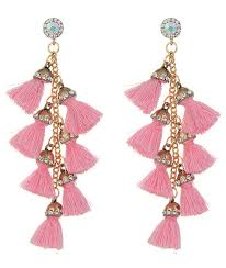 pink earrings pinata tassel drop earrings light pink cherrypick