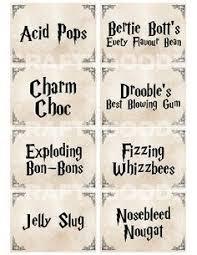 harry potter party games printables letreros caras cumple