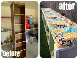 diy fun crafts bookshelf to bench dump a day