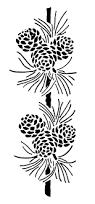 vintage pine cone clip art black and white graphics pine cone