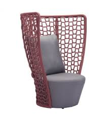 Plastic High Back Patio Chairs by Loose Weave High Back Patio Chair