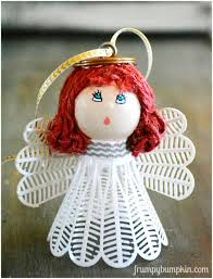 make an angel ornament from a badminton birdie and a ping pong