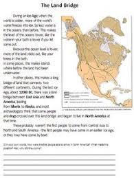 the first americans land bridge theory youtube teachery ss