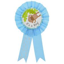 baby shower ribbon bulk blue its a boy baby shower award ribbons 6 5 in at