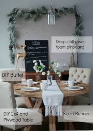 ana white holiday tablescape diy linen pinboard diy projects