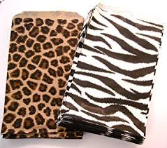 zebra print wrapping paper 100 of 4 x 6 small paper bags 50 cheetah leopard