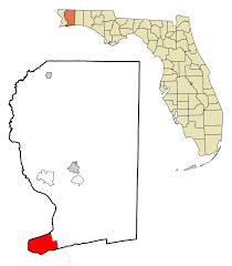 Pensacola Florida Map by Gulf Breeze Florida Wikipedia
