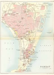 Mumbai Map Mumbai U2013 Bombay From 1893 Antique Indian Maps
