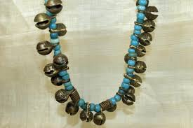 beads necklace india images Vintage necklace of bells and beads from india jpg