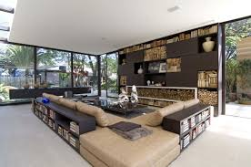 L Shaped Wooden Sofas Impressive Design Ideas Using Rectangular Black Leather Sofas And