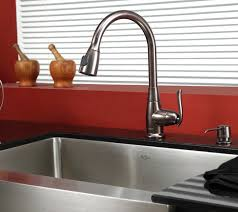 Stainless Steel Sink With Bronze Faucet Stainless Steel Kitchen Sink Combination Kraususa Com