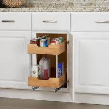 Bathroom Cabinet Organizer by Glidez Wood 2 Tier Sliding Cabinet Organizer 11 5 Inch Wide