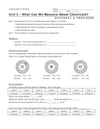 printables accuracy vs precision worksheet followersblast