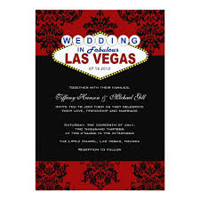 viva las vegas wedding invitation zazzle