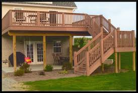 stylish deck designs for 2 story house two decks pictures of