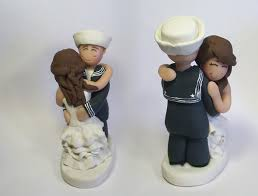 custom wedding cake toppers military in love military custom