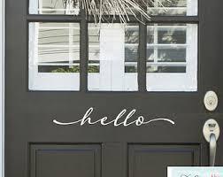 Vinyl Doors Exterior Door Vinyl Lettering Etsy
