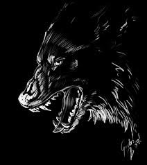 digital sketch wolf by kitsunebara on deviantart