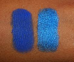 the fancy face make up for ever mufe eyeshadows swatches blues