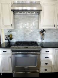 kitchen white tile kitchen backsplash electric stove white