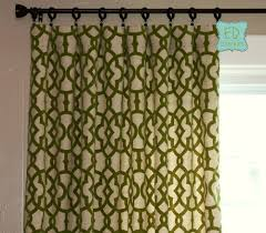 hand made 84l x 50w flocked curtains trellis custom curtain panels