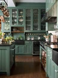 victorian kitchen island silver under cabinet range hood black quartz countertop green