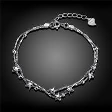girls bracelet silver images 2017 fashion 925 sterling silver bracelets for women trendy star jpg